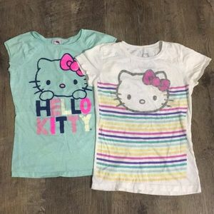 Set of 2 Hello Kitty Kids T-shirts Size L